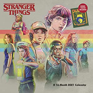 Trends International 2021 Stranger Things Wall Calendar with Bonus Poster & Push Pins, 12