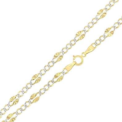 Women /& Girls Charm Bracelets Gold Plated Figaro Heart Charm Bracelet w//Spring Ring Clasp