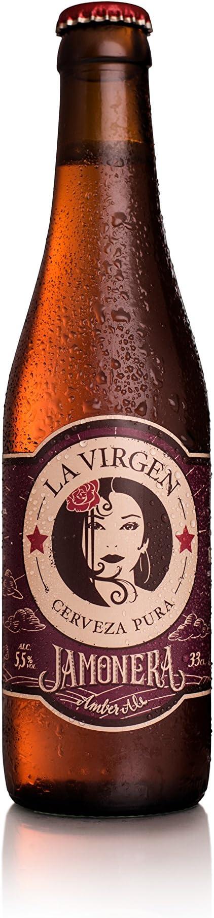 La Virgen Cerveza Artesana Jamonera - pack 24 botellas x 330 ml ...