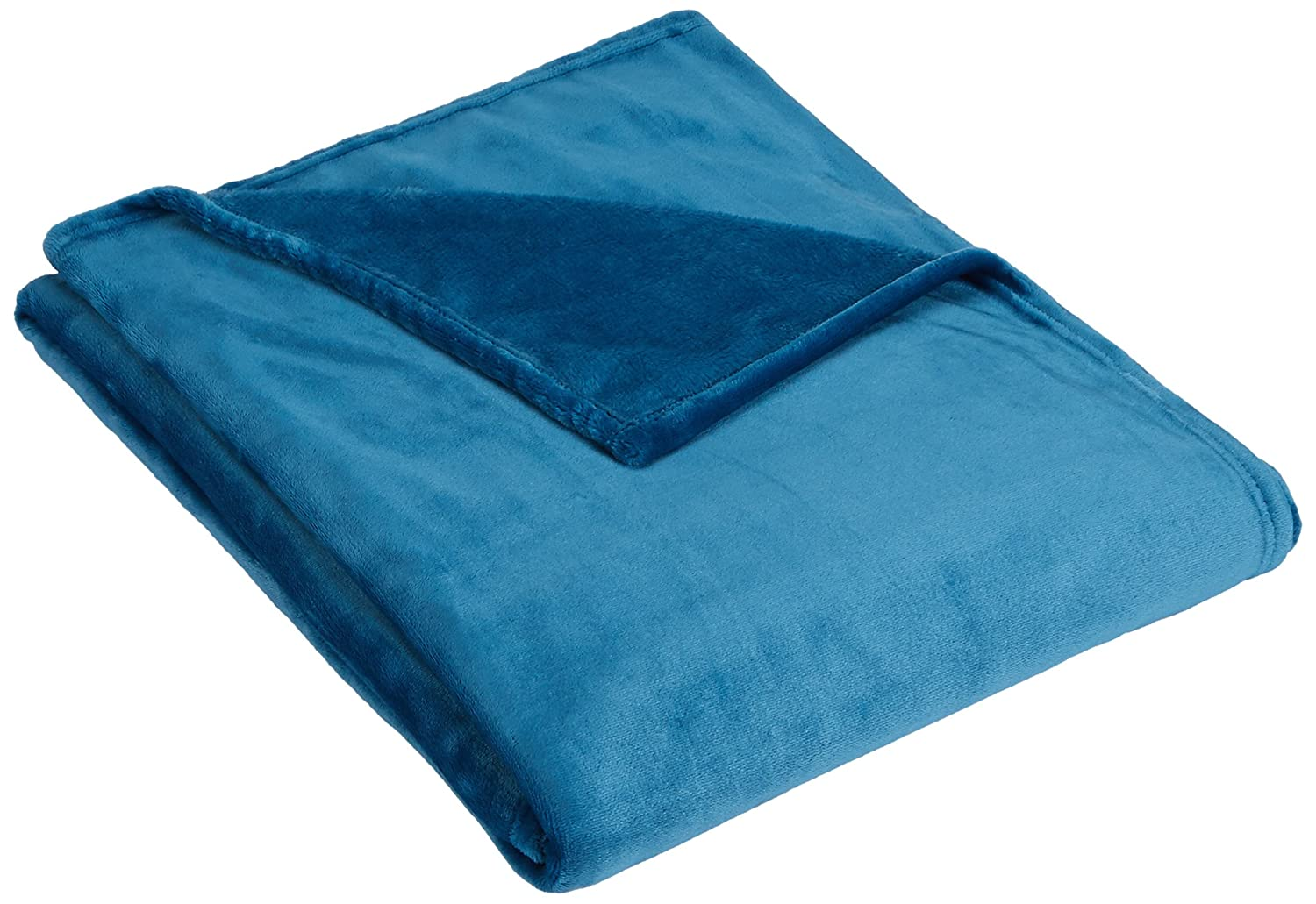 Pinzon Velvet Plush Throw Blanket, Teal