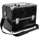 Songmics Porta Trucco Nero Beauty Case Confanetto Cosmetico Make Up Bagaglio per Manicure JBC315B