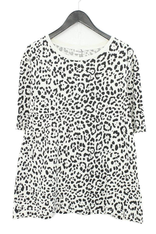 (サンローランパリ) SAINT LAURENT PARIS 【16SS】【ベイビーキャット】総柄プリントTシャツ(XL/ホワイト×ブラック) 中古 B07FCF2QN8  -