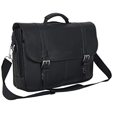 109a529bb Kenneth Cole Reaction Show Full-Grain Colombian Leather Dual Compartment  Flapover 15.6-inch Laptop