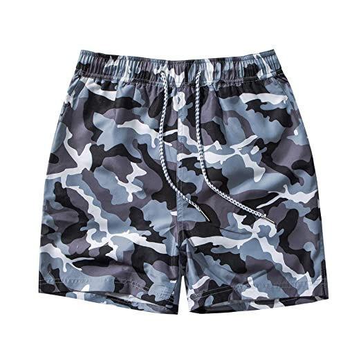 0e6d20d1f071f Dovava Men's Swim Short Trunks with Mesh Lining Quick Dry Swimwear  Boardshorts Above Knee with Pockets