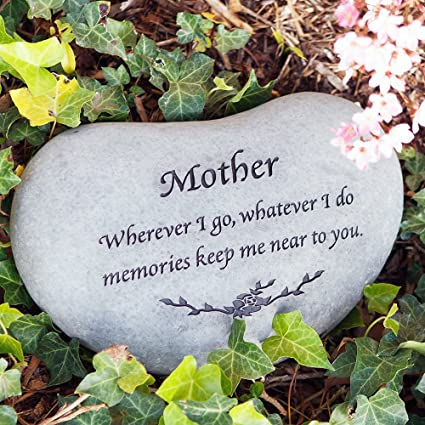 Sympathy Stones For The Garden Amazon memorial stones for mom mother memorial engraved memorial stones for mom mother memorial engraved stepping stone heart shaped stepping stone workwithnaturefo