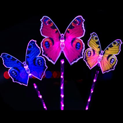 SmilingStore Butterfly Solar Garden Lights Outdoor, Solar Stake Light LED Garden  Lights, Fiber Optic