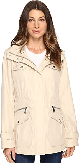 c109ec292fe2 MICHAEL Michael Kors Womens Four-Pocket Hooded Anorak M322149R74 at Amazon Women s  Coats Shop