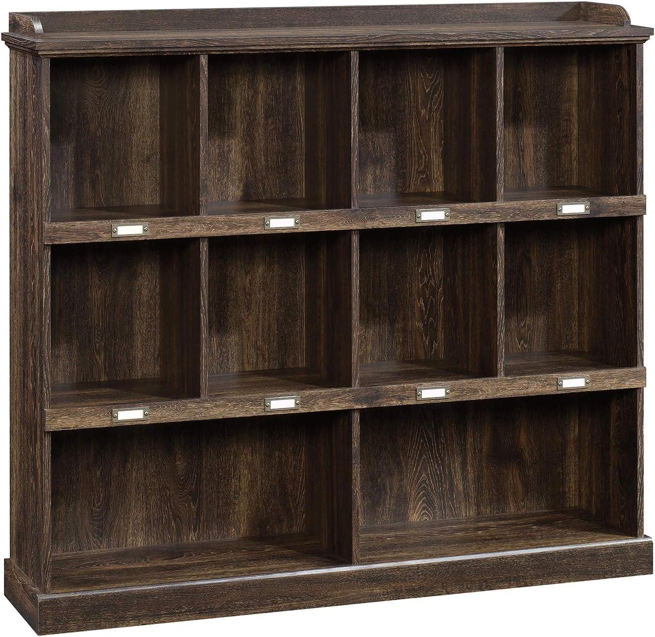"""Sauder 422717 Barrister Lane Bookcase, L: 52.84"""" x W: 12.80"""" x H: 47.60"""", Iron Oak finish"""