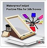 """Waterproof Silkscreen Positive Film For Silk Screen 8.5"""" x 11"""" (100 Sheets)"""