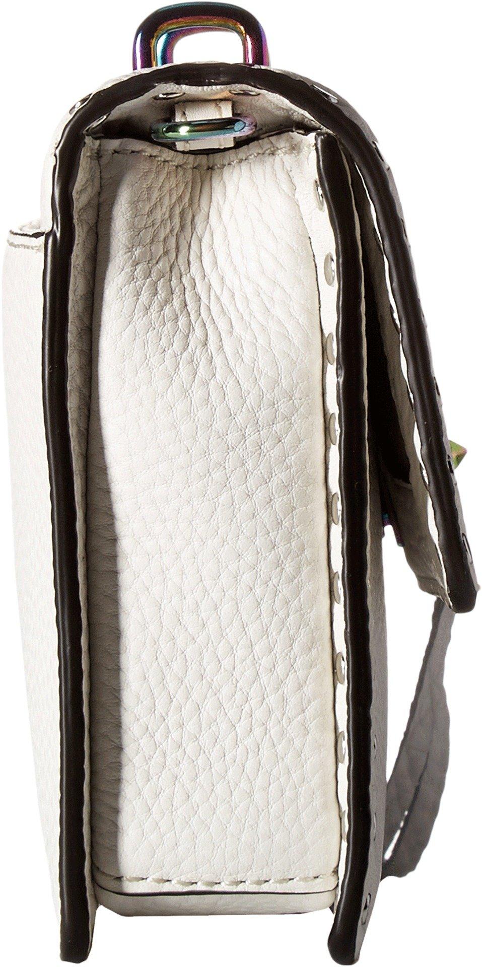 Rebecca Minkoff Women's Darren Top-Handle Flap Crossbody Bianco One Size by Rebecca Minkoff (Image #3)