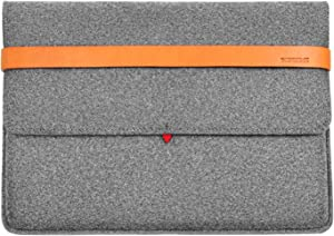 TOPHOME Felt Laptop Sleeve Case 15 Inch Unique Big Protector Bag Compatible for MacBook Pro 15/2019 MacBook Pro 16/15'' Microsoft Surface/Lenovo/Dell/HP/ASUS/Acer, Gray