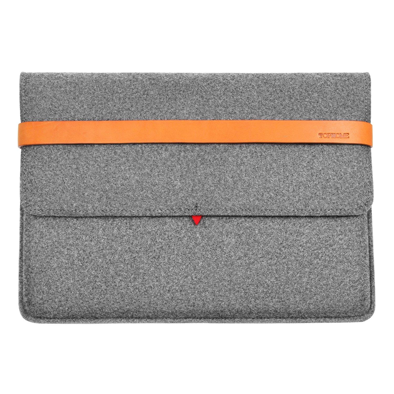 TOPHOME Wool Felt Sleeve Carrying Protector Bag Case Cover Compatible for iPad Mini/iPad Mini 2/iPad Mini 3/iPad Mini 4, Grey … EWonePM