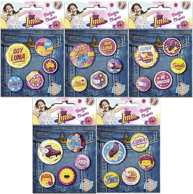 Soy Luna - Pack de 5 chapas y Pins (Kids WDSL129): Amazon.es: Juguetes y juegos