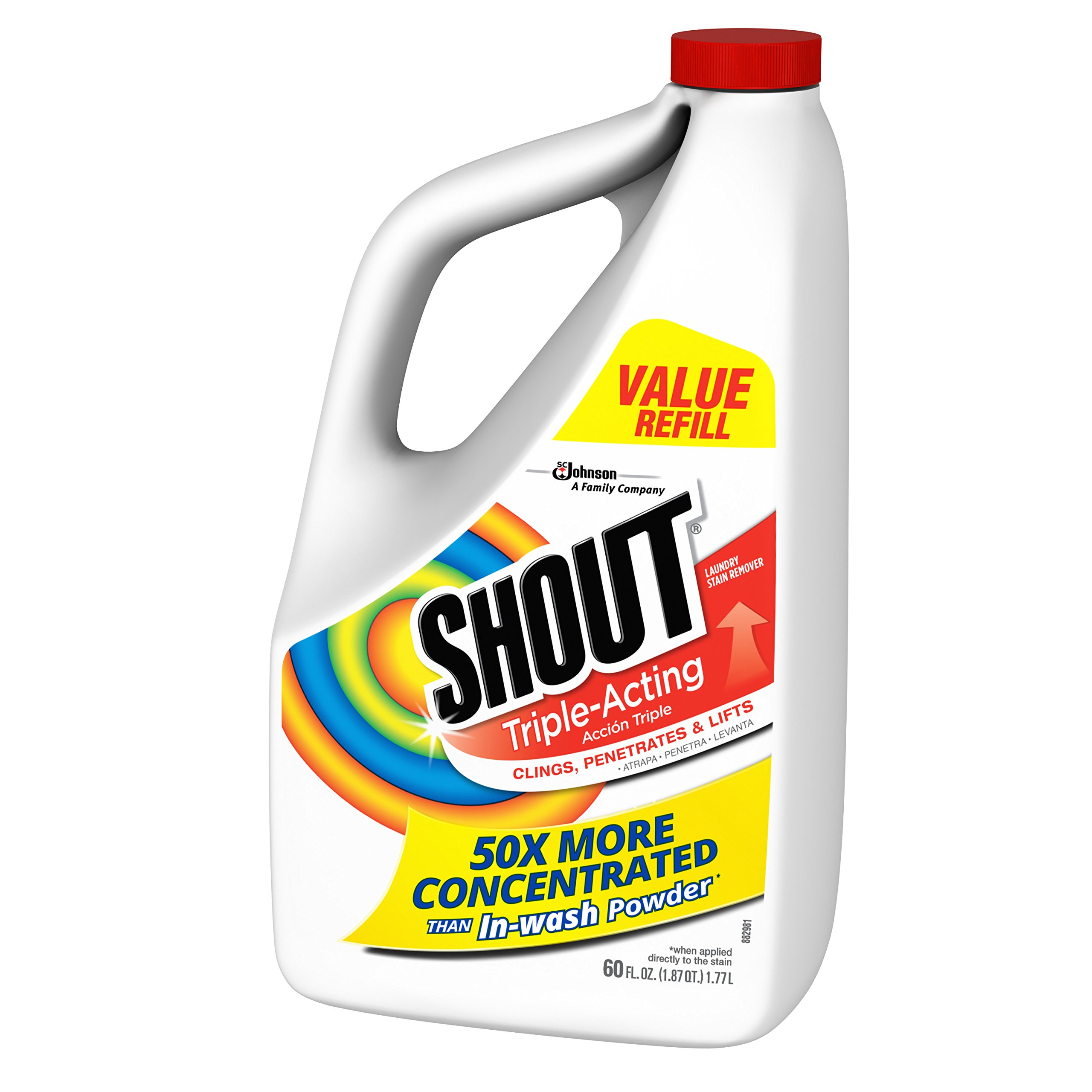 Shout Triple-Acting Liquid Refill 60 fl oz. (Pack of 6) by Shout (Image #4)