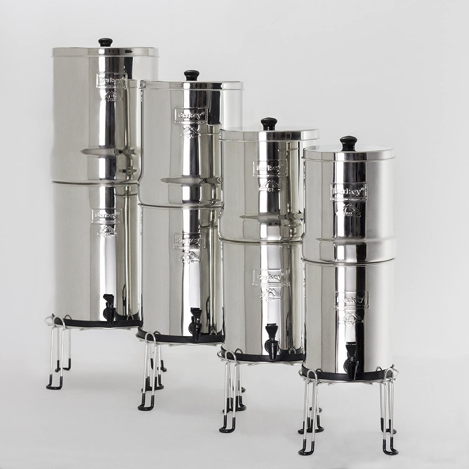 Berkey Stainless Steel Wire Stand with Rubberized Non-skid Feet for Big Berkey and Other Medium Sized Gravity Fed Water Filters by Berkey