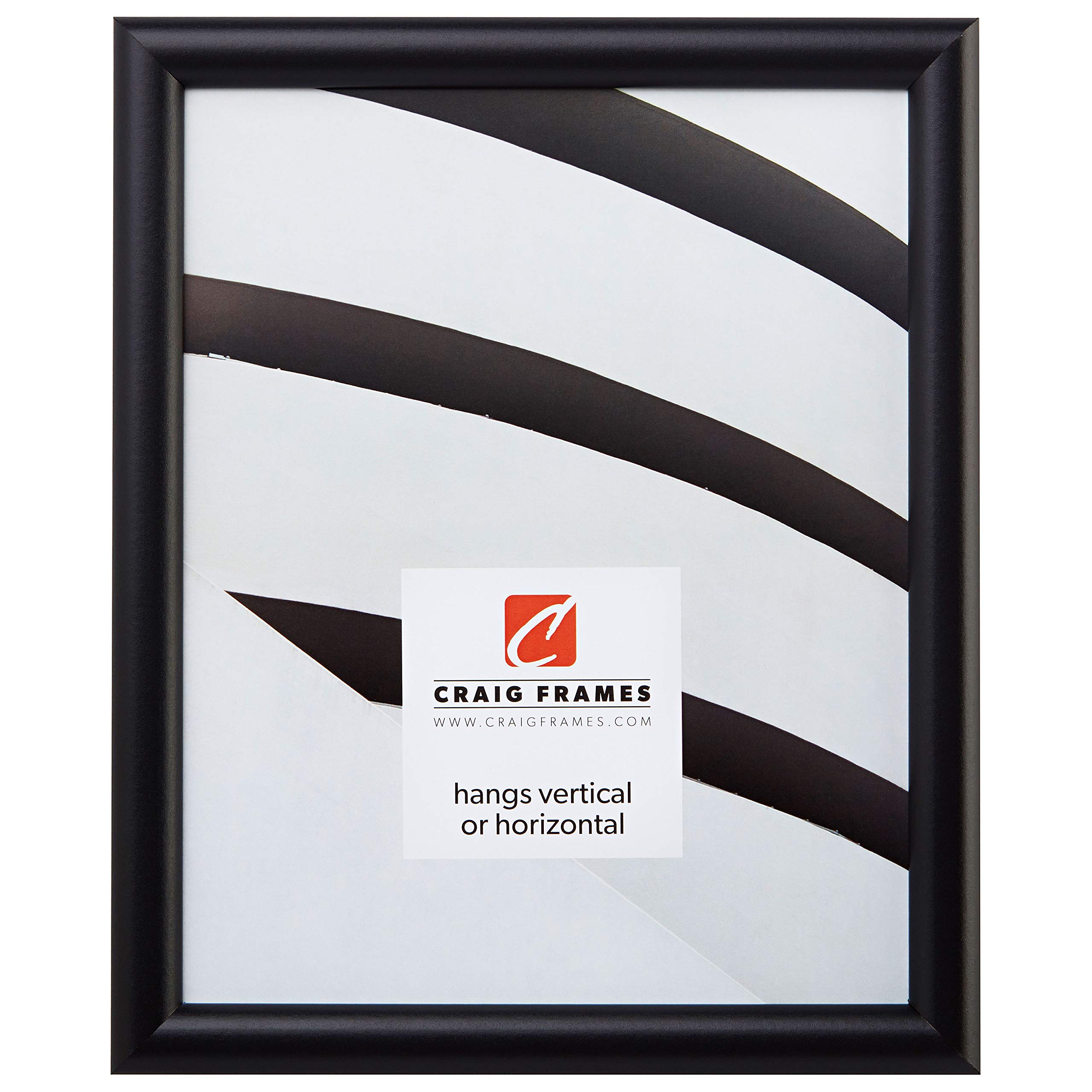 Craig Frames fw2bk 11 by 17-Inch Picture Frame, Smooth Finish, 0.765-Inch Wide, Black