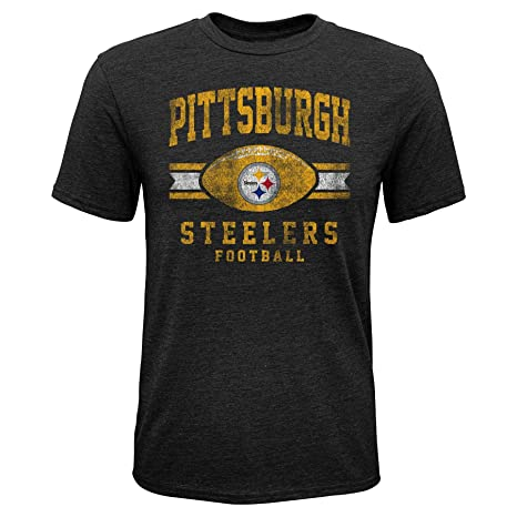 34351c1c Outerstuff NFL Boys Pittsburgh Steelers Youth Boys Player Pride Short  Sleeve Tri-Blend Tee