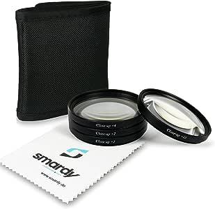 smardy 77mm Close up Macro +1 +2 +4 +10 Pack de filtros Compatible con Nikon D300S, D4, D800, Canon EOS 5D Mark II, Sony Alpha 850, 900, SLT-99V: Amazon.es: Electrónica