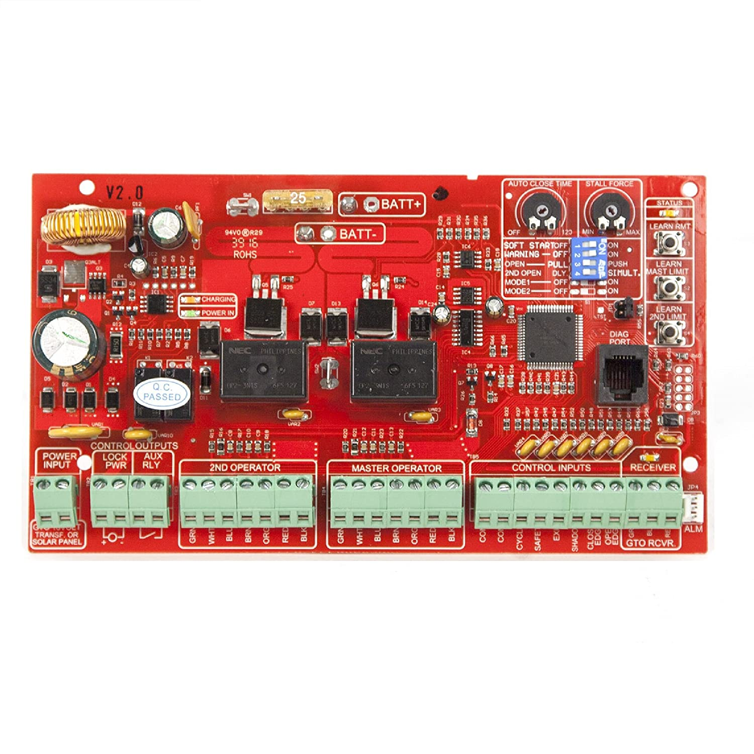 Mighty Mule Replacement Control Board For Fm 350 Wiring Diagram Gate Openers R4211 Home Improvement