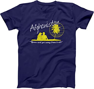 Afghanistan Vacation  Navy Basic Men/'s T-Shirt