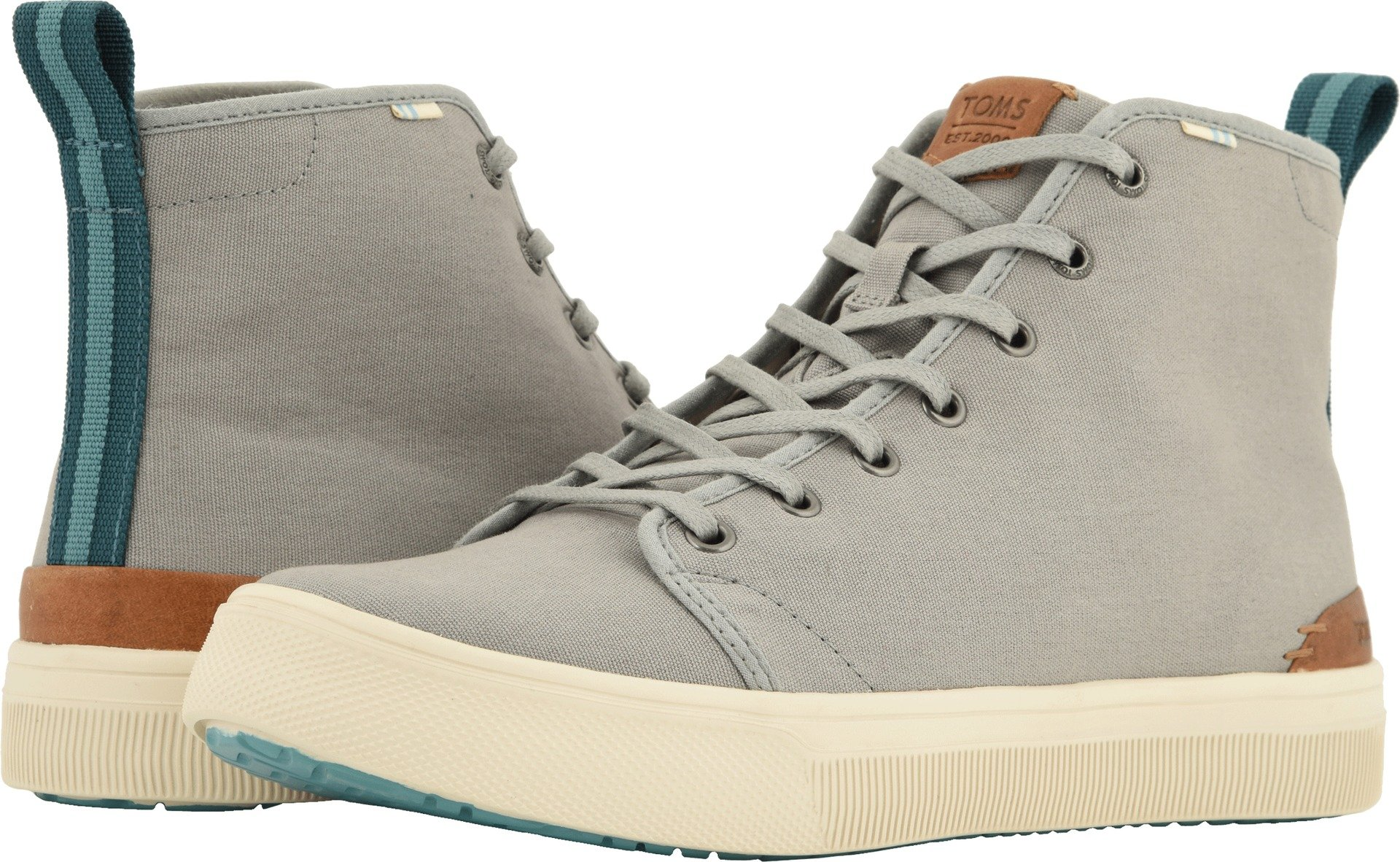TOMS  Men's TRVL LITE High Neutral Gray Canvas 12 D US by TOMS