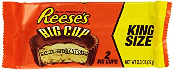 Amazon.com : REESE'S King Size Peanut Butter Big Cup, (2.8-Ounce ...