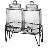 Style Setter Hamburg Dispensers with Stand (Set of 2), Clear