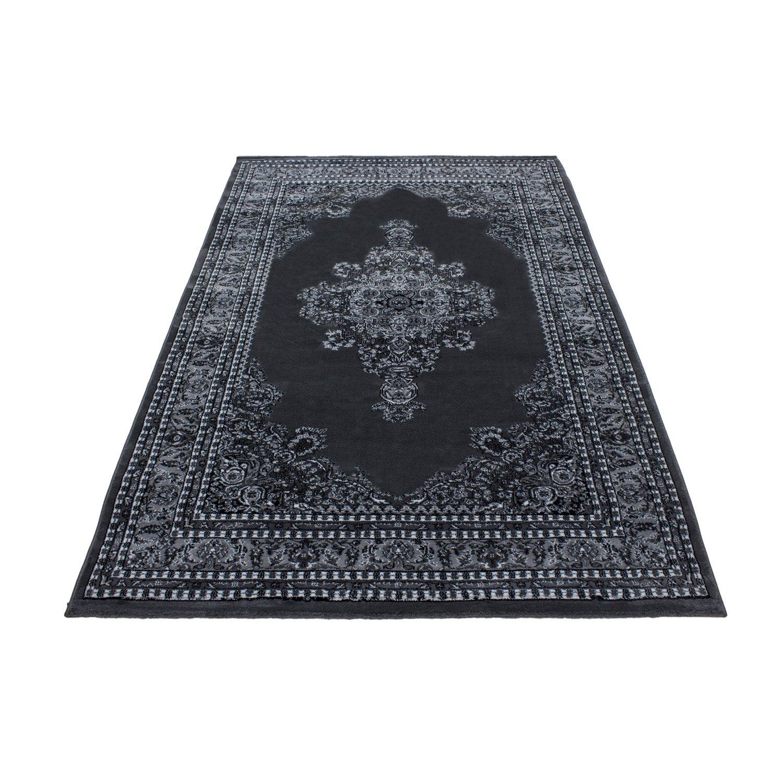 Orientteppich Klassische Optik Orientalisch Traditional Medaillion Schwarz Grau, Maße 200x290 cm