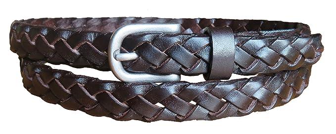 ae2e28d96fc3 MASAYIN aux femmes Ceintures de taille en cuir - Tressé main pour Jeans Robe   Amazon.fr  Vêtements et accessoires
