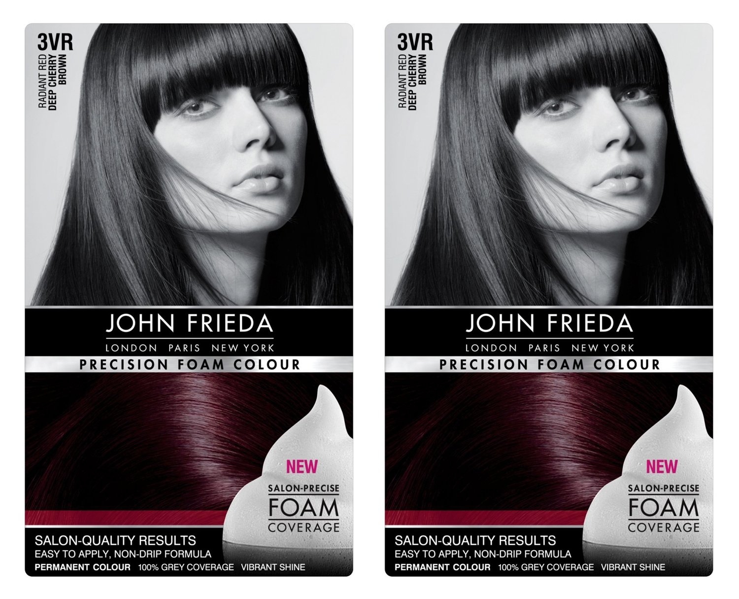 Amazon John Frieda Precision Foam Colour 4r Dark Red Brown 2