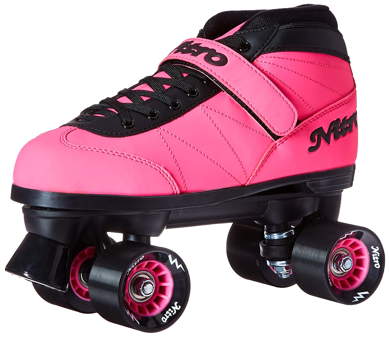 Amazon.com : Epic Skates 2016 Epic Nitro Turbo 1 Indoor/Outdoor Quad Speed Roller Skates, Pink : Sports & Outdoors