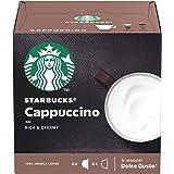 Café em Cápsula, Starbucks, Nescafé, Dolce Gusto, Cappuccino, 12 Cápsulas