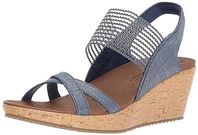 Skechers Women's Beverlee High Tea Open Toe Sandals