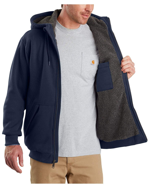 Carhartt Men's Rain Defender Rockland Sherpa Lined Hooded Sweatshirt