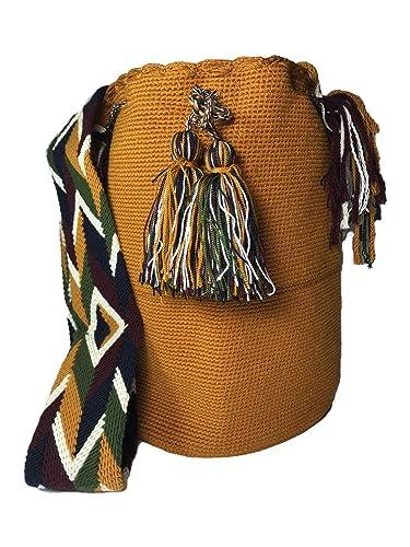 Amazon.com: Wayuu Mochila Bag – Large- 100% Real Crochet ...