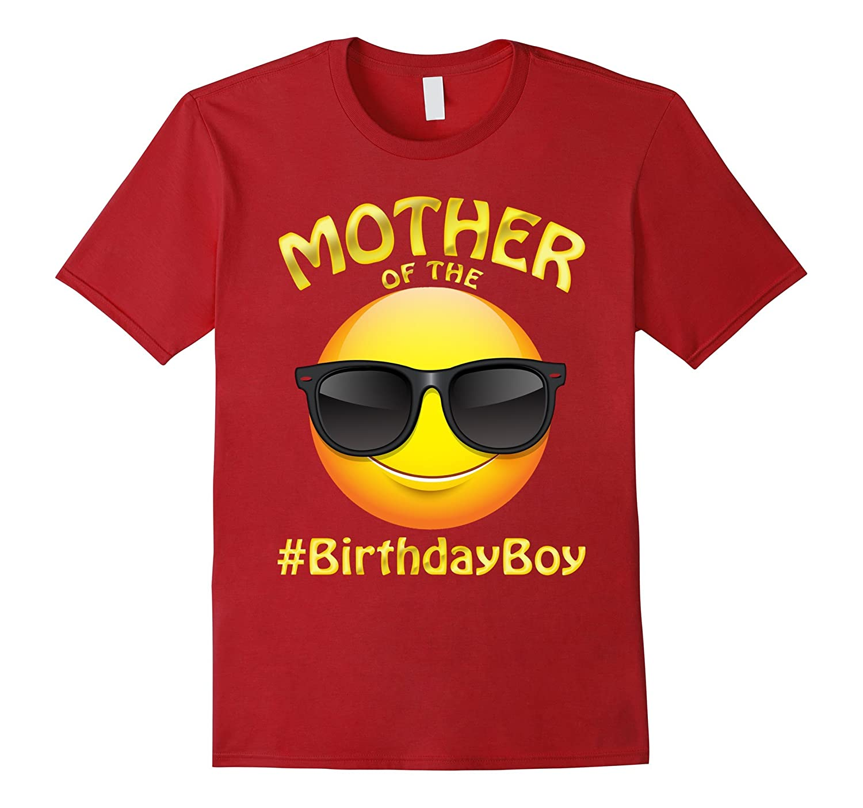 Mother Of The Birthday Boy Emoji T-Shirt for Mom-Mommy