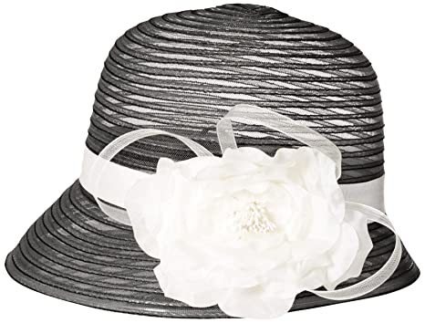 a485fc34c35 SCALA Women s Cloche Hat with Flower