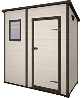 keter manor pent outdoor plastic garden storage shed 6 x 4 feet large