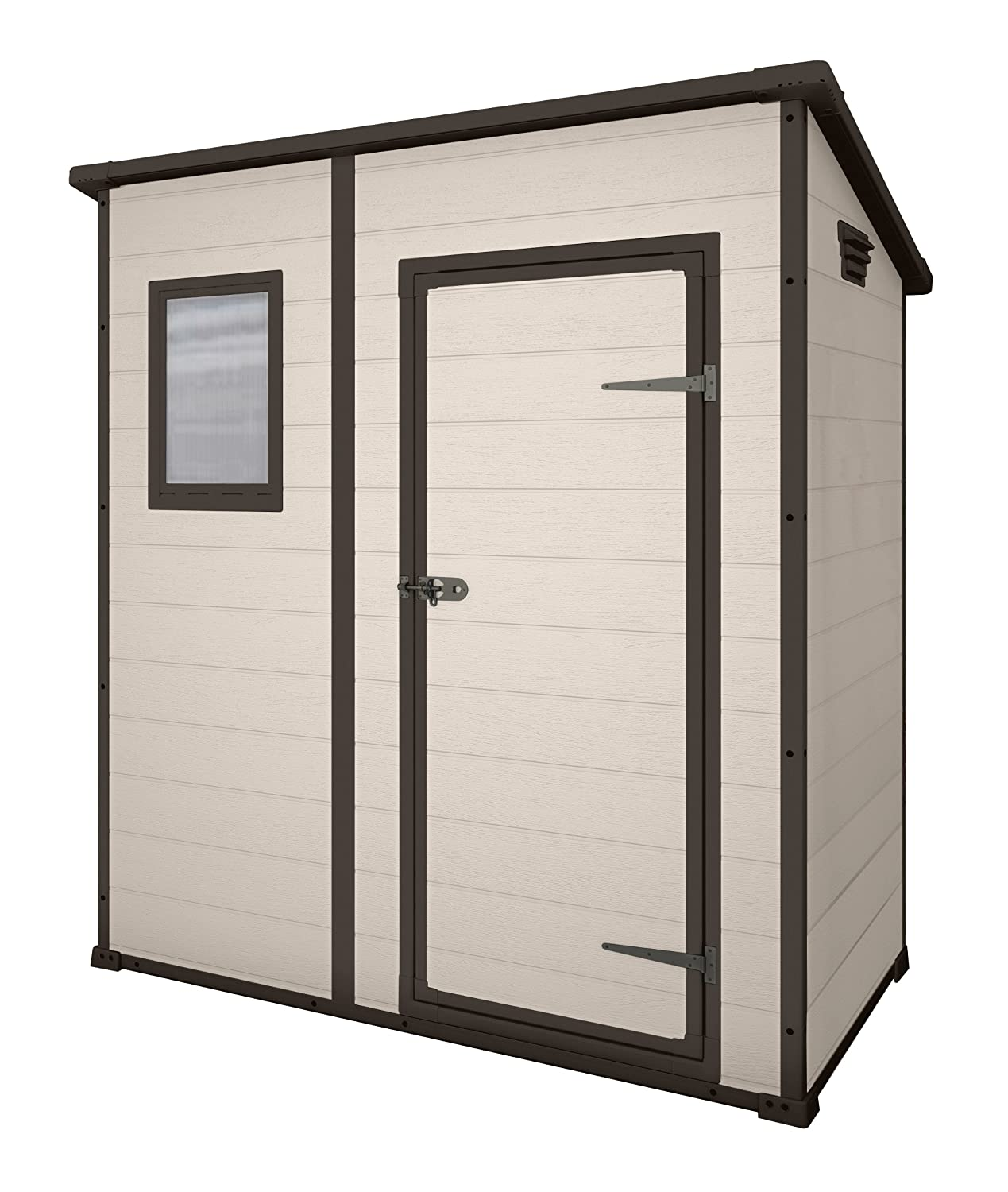 keter manor pent outdoor plastic garden storage shed 6 x 4 feet large beige amazoncouk garden outdoors shire 6ft x 4ft - Garden Sheds 6ft By 4ft