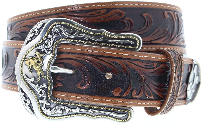60415d647695fd Tony Lama Damen Herren Ledergürtel C41514 Westerngürtel Braun, Länge:90  (36): Amazon.de: Bekleidung
