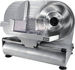 "Weston 61-0901-W Heavy Duty Meat and Food Slicer 9"" Stainless Steel (Renewed)"