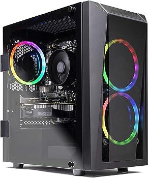 SkyTech Blaze II Gaming Desktop (Hex Ryzen 5 2600 / 8GB / 500GB SSD)