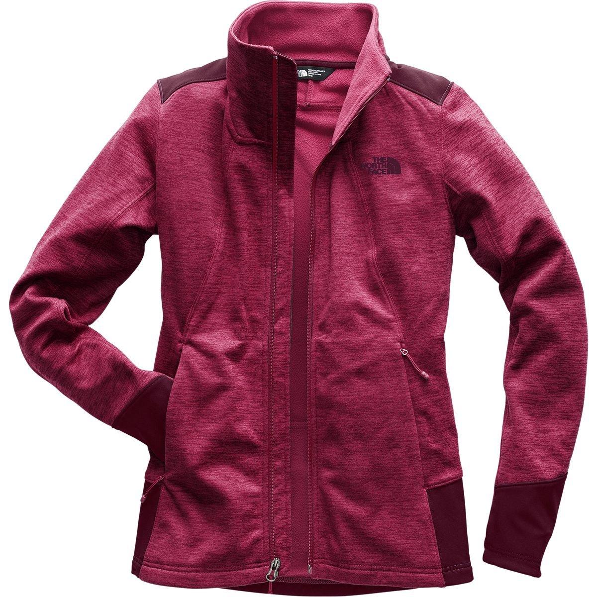 (ザノースフェイス) The North Face Shastina Stretch Full-Zip Jacket レディース ジャケットRumba Red Heather/Fig [並行輸入品]   B07F9VWGHD