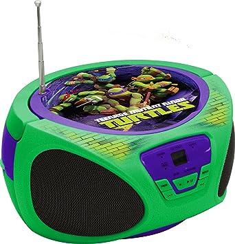 Amazon.com: Boombox Reproductor Tortugas Ninja Mutantes ...