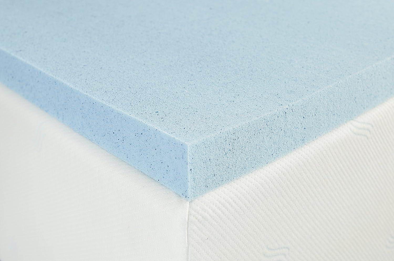Sleep Innovations - Colchón de Espuma viscoelástica de Gel de 5 cm: Amazon.es: Hogar