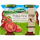 Valfrutta - Polpa Fine, Mini cubetti in salsa densa - 6 confezioni da 2 pezzi da 330 g [12 pezzi, 3960 g]