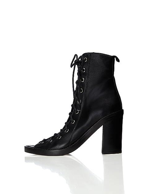 FIND Botas Piel con Cordones para Mujer  Amazon.es  Zapatos y complementos f71b26a99a72e