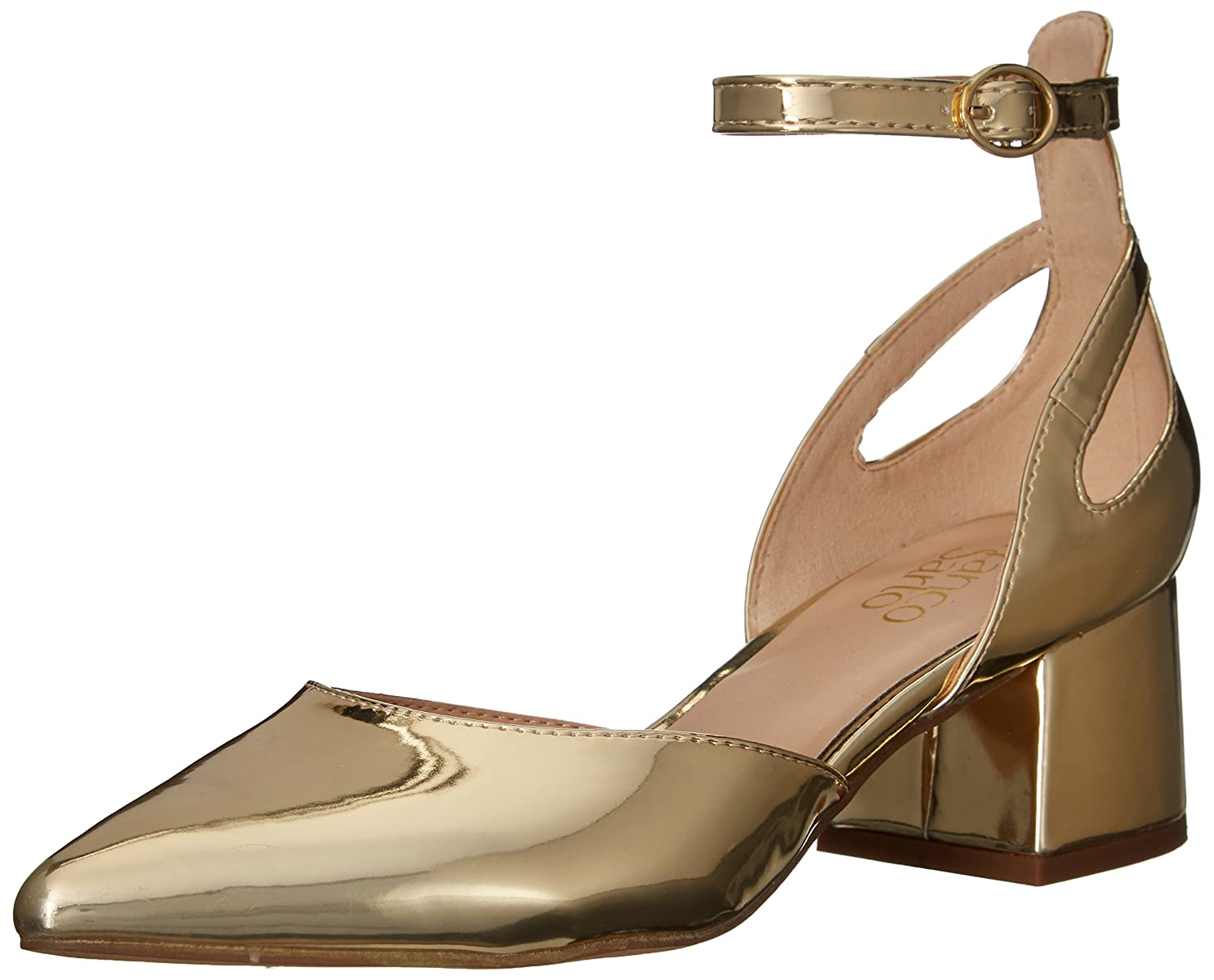 Franco Sarto Women's Caleigh Pump B06XSKY8MJ 9 B(M) US|Gold