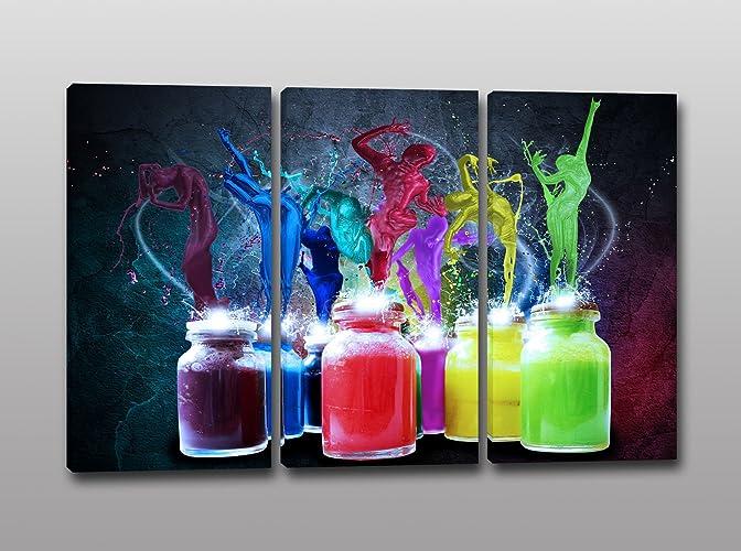Quadri stampa su tela o tris di quadri esplosione di colori quadri ...