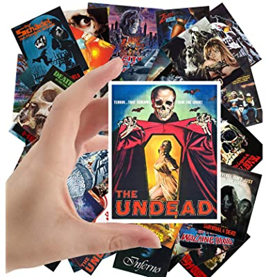 "Large Stickers (24 pcs 2.5""x3.5"") Zombien Skeletons Undead Vintage Horror Movie Poster: Toys & Games"